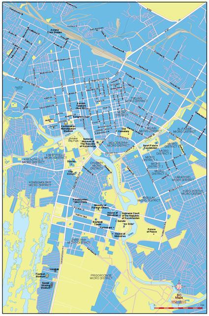Carte Vectorielle Ville