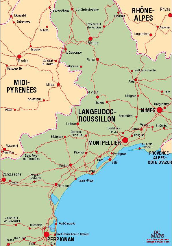 Villes du Languedoc Roussillon  Arts et Voyages