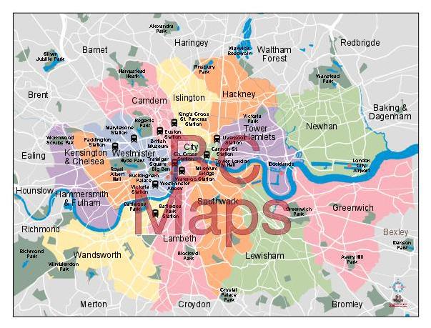 La Ville De Londre Carte