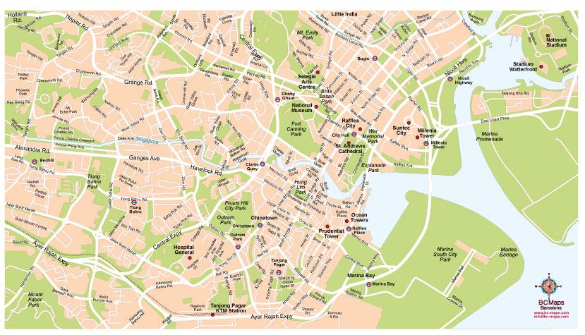 Hong Kong Singapour Carte.Singapour Carte Vectorielle Plan De Ville Fonds De Cartes